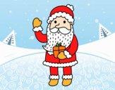 Papá Noel y su regalo