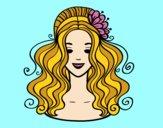 Peinado recogido con flores