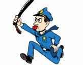 Policía corriendo