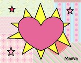 Sol en forma de corazón