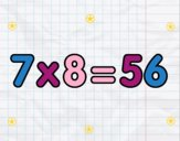 7 x 8