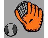 Guante y bola de béisbol