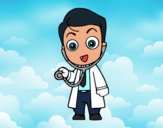 Médico auscultando