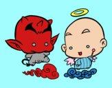 Dibujo Ángel o demonio pintado por AZUL5
