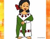 Dibujo Señora maya pintado por Sachiko468