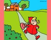 Dibujo Caperucita roja 3 pintado por maryfom