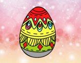 Dibujo Huevo de Pascua con Rombos pintado por maryfom