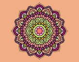 Mandala estrella decorada