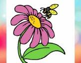 Dibujo Margarita con abeja pintado por Andreeeeee