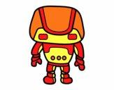 Dibujo Robot fuerte pintado por  lajartija