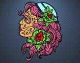 Dibujo Tatuaje de Catrina pintado por sweeties