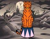 Dibujo Tigre de circo pintado por sweeties