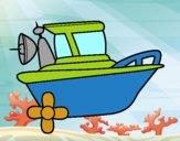 Dibujo Barco a motor pintado por ZASCUACH