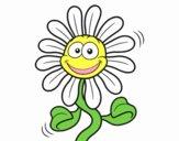 Dibujo Flor animada pintado por narratorco