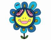 Dibujo Flor patchwork pintado por narratorco