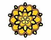 Mándala con una flor