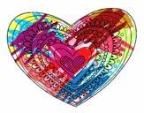 Dibujo Mandala corazón pintado por nickvanega