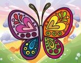 Dibujo Mandala mariposa pintado por CARySER