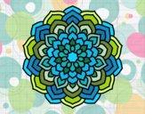 Dibujo Mandala pétalos de flor pintado por Battis