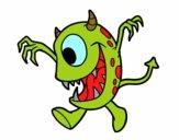 Dibujo Monstruo con un ojo pintado por paolitaa