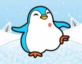 Dibujo Pingüino bailando pintado por kevin312