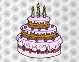 Dibujo Tarta de cumpleaños pintado por lolyyfeli