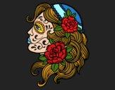 Dibujo Tatuaje de Catrina pintado por donaldpick