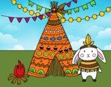 Dibujo Conejo indio pintado por PaolaNekko