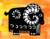Dibujo Signo de la cabra pintado por empoleon09
