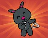 Conejo con triángulo