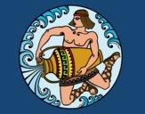 Dibujo Oráculo griego pintado por queyla