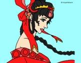 Dibujo Princesa china pintado por diorjailis