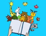Dibujo Un cuento de animales pintado por luis95