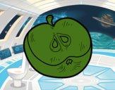 Una media manzana