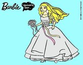 Dibujo Barbie vestida de novia pintado por livet