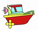 Dibujo Barco a motor pintado por CIROOO