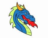 Dibujo Cabeza de dragón europeo pintado por Sammy0923