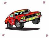 Dibujo Coche muscle car pintado por lalulala