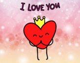 Dibujo Corazón I love you pintado por 123myi