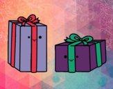 Dibujo Dos regalos pintado por starlimon