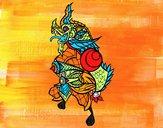 Dibujo Dragón guardián pintado por Sammy0923