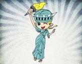 Dibujo Estatua de la libertad manga pintado por starlimon