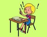 Dibujo Examen de colegio pintado por lolyyfeli