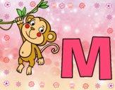 Dibujo M de Mono pintado por maricielo9