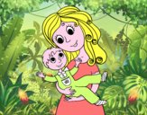 Madre con su hijo