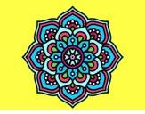 Dibujo Mandala flor de la concentración pintado por DayaLuna