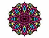 Dibujo Mandala para la concentración pintado por DayaLuna
