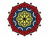 Dibujo Mandala para meditar pintado por DayaLuna