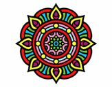 Dibujo Mandala puntos de fuego pintado por DayaLuna