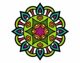 Dibujo Mandala vida vegetal pintado por aloja